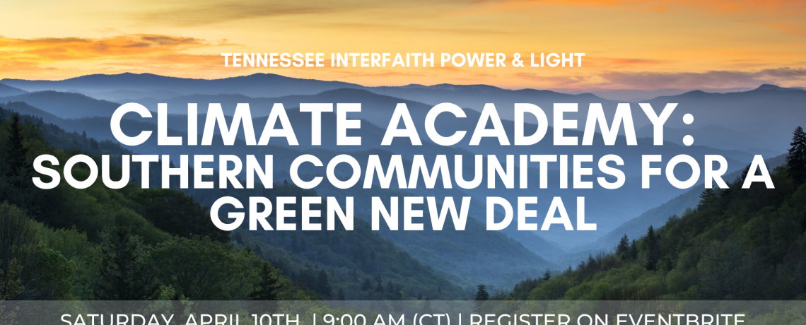 Climate Academy Southern Communities for a Green New Deal