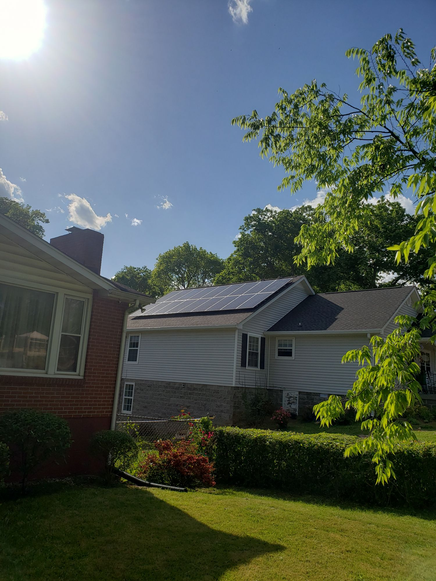 Completed Bordeaux Solar Installation